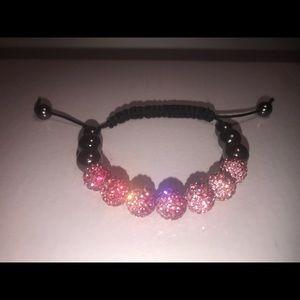 Jewelry - Pink and Fuchsia Hand Made Shamballa Bracelet